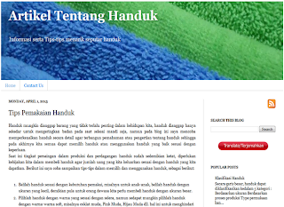 artikel tentang handuk