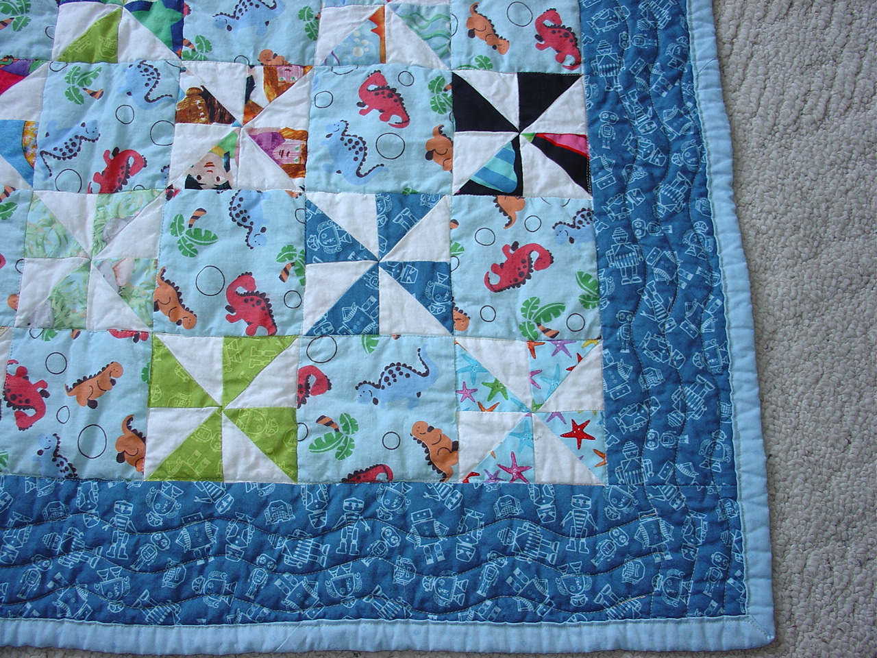 Treadlestitches: More Charity Quilt Recipes--Baby Pinwheel Quilt