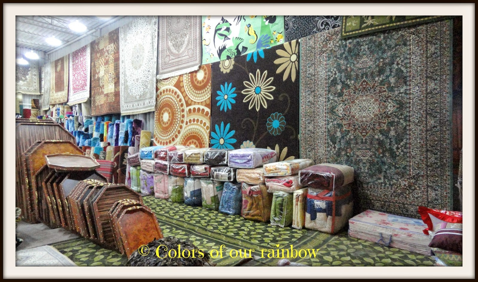 Carpets in Masafi market- Fujairah @colorsofourblogspot.ae