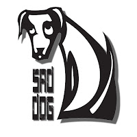 logo sad dog project bianco e nero