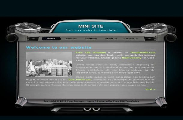 Free Black Grey Music HTML CSS Website Template