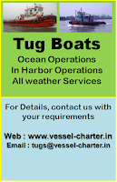 Tug Boat Services in India, Towing, Ocean, harbor, bollard pull