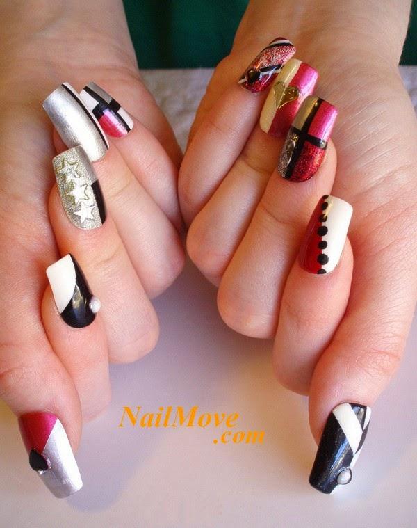 Five Amazing Hand Printed Nail Art Designs