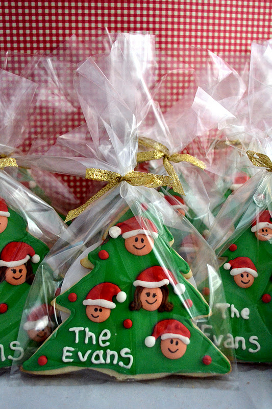 personalized christmas cookies such a cute gift idea - Christmas Cookie Gift Ideas