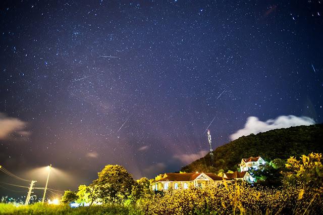 Mưa sao băng Geminid ở Sơn Trà, Đà Nẵng. Tác giả : Khan G Nguyen, CLB Thiên văn học Đà Nẵng.