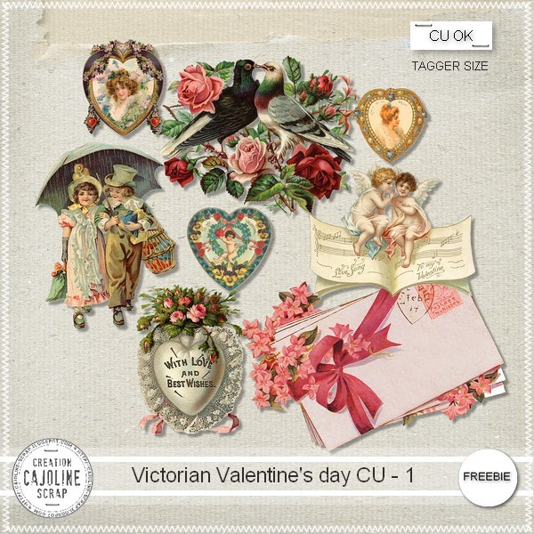 "Free Scrapbook elements ""Victorian valentine's day 1 CU"" from Cajoline scrap"