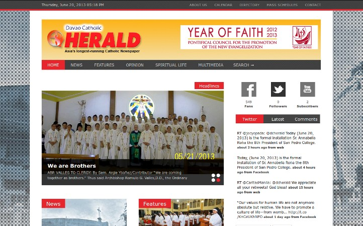 Davao Catholic Herald's Website