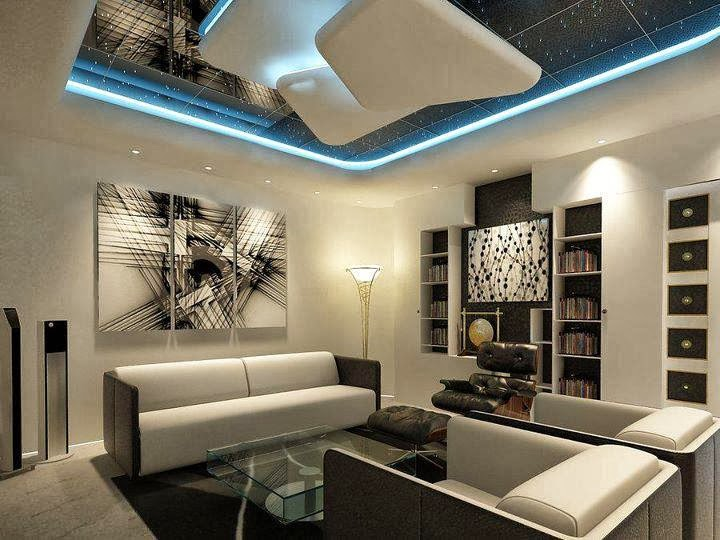 Top 10 catalog of modern false ceiling designs for living for Modern sitting room ideas