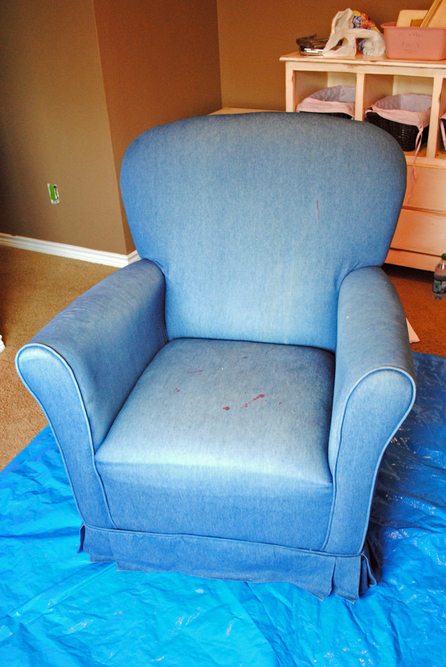I Should Be Mopping The Floor Painting Upholstered Furniture