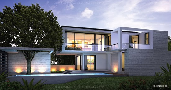 Tropical Modern House Plans
