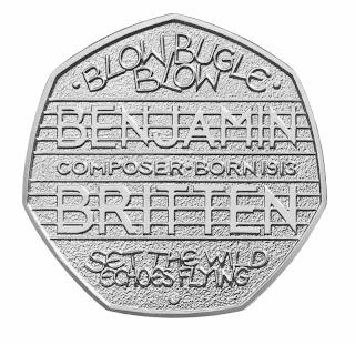 Benjamin Britten 50 pence commemorative coin