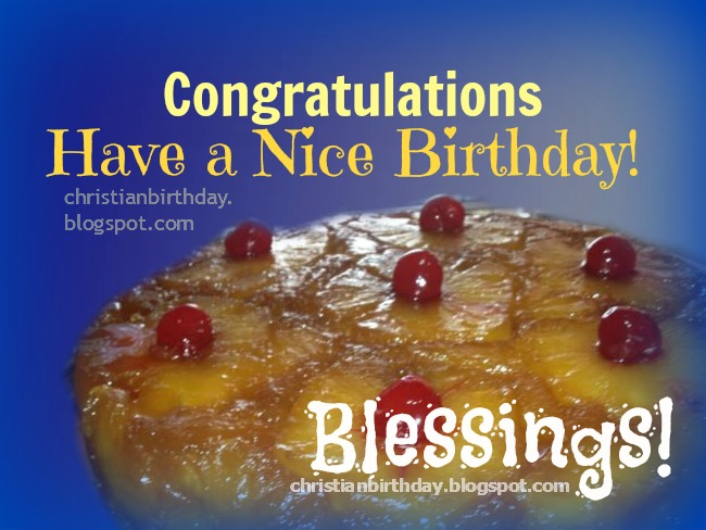 Christian free Birthday Card with blessings by Mery Bracho God bless you images