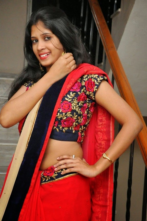 actress om sizzling photos in saree-HQ-Photo-18
