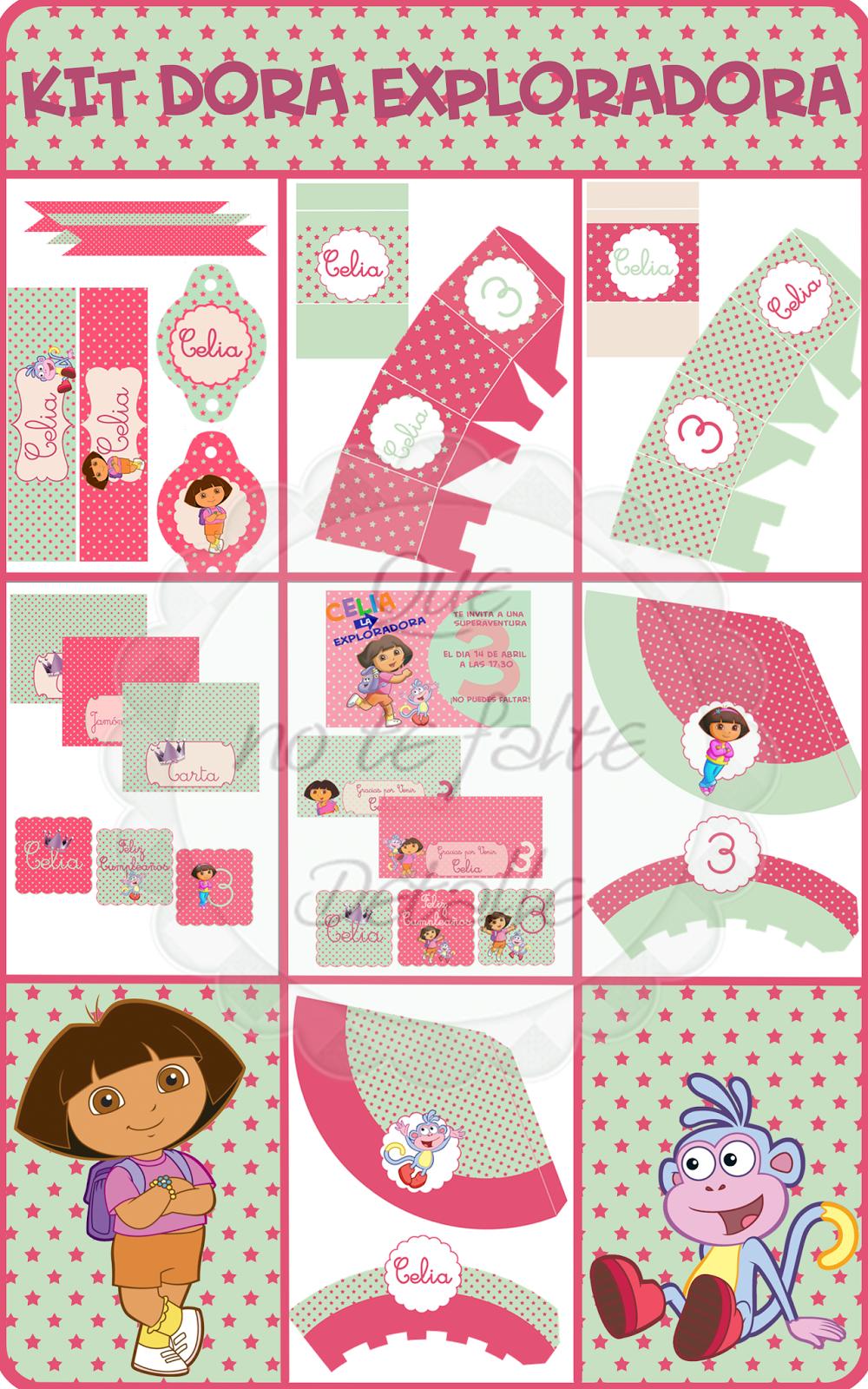 Kit Imprimible Dora Exploradora