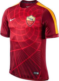 jersey roma, prematch, grade ori, thailand, jual baju bola roma training, jersey, online shop