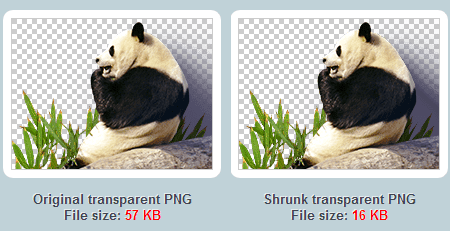 How to reduce png file size