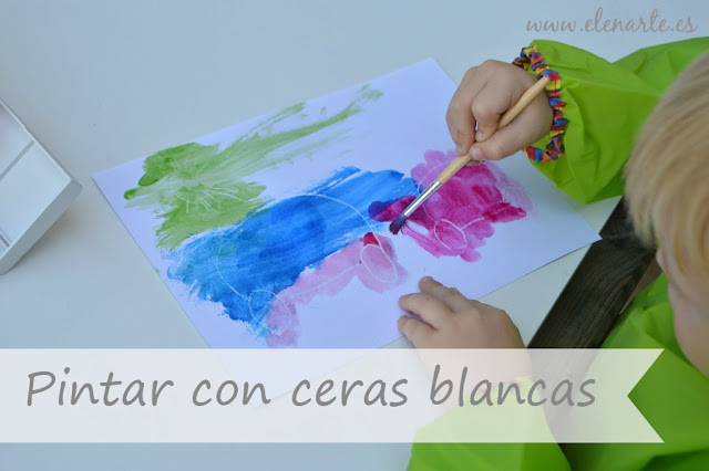 Pintar con ceras blancas