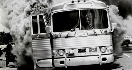 Freedom Riders Burning Bus 1963