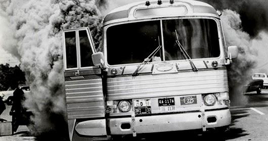 Freedom Riders Burning Bus 1963