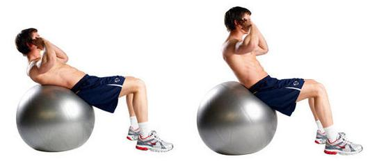 Swiss Ball Crunches