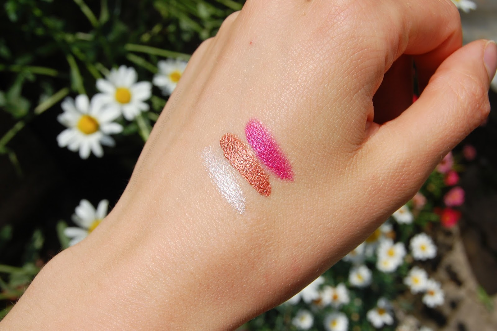 Delizioso Skincare Tara Collection makeup swatches