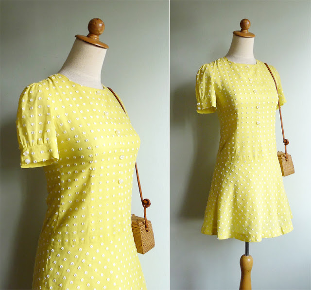 vintage 60's mod scooter mini dress