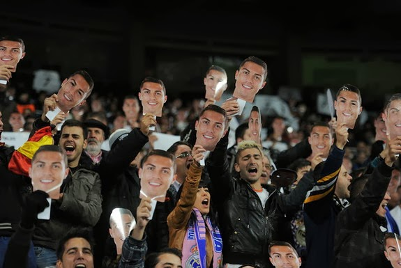 Real Madrid fans support Cristiano Ronaldo's Ballon d'Or bid with 45,000 face masks