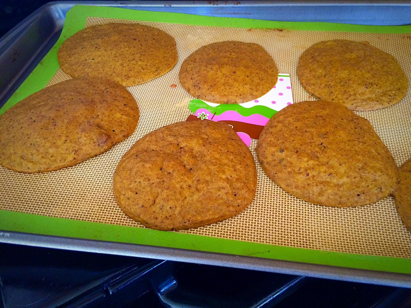 """""""pancakes"""" baking on split mat"""