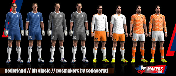 PES 2013 Netherlands Classic Kits by Sodaceratichile