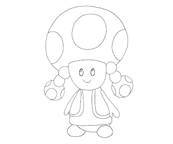#11 Toadette Coloring Page