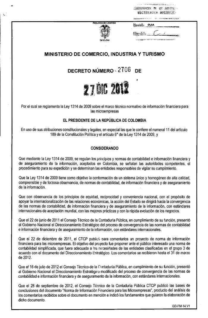PENSAMIENTO CONTABLE: [PDF] Decreto 2706 del 27 de Diciembre de 2012 ...