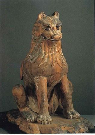 ↓ 国宝・吉祥天女画像。この国宝画像は永らく鎮守八幡宮神殿の中に天部の神仏像