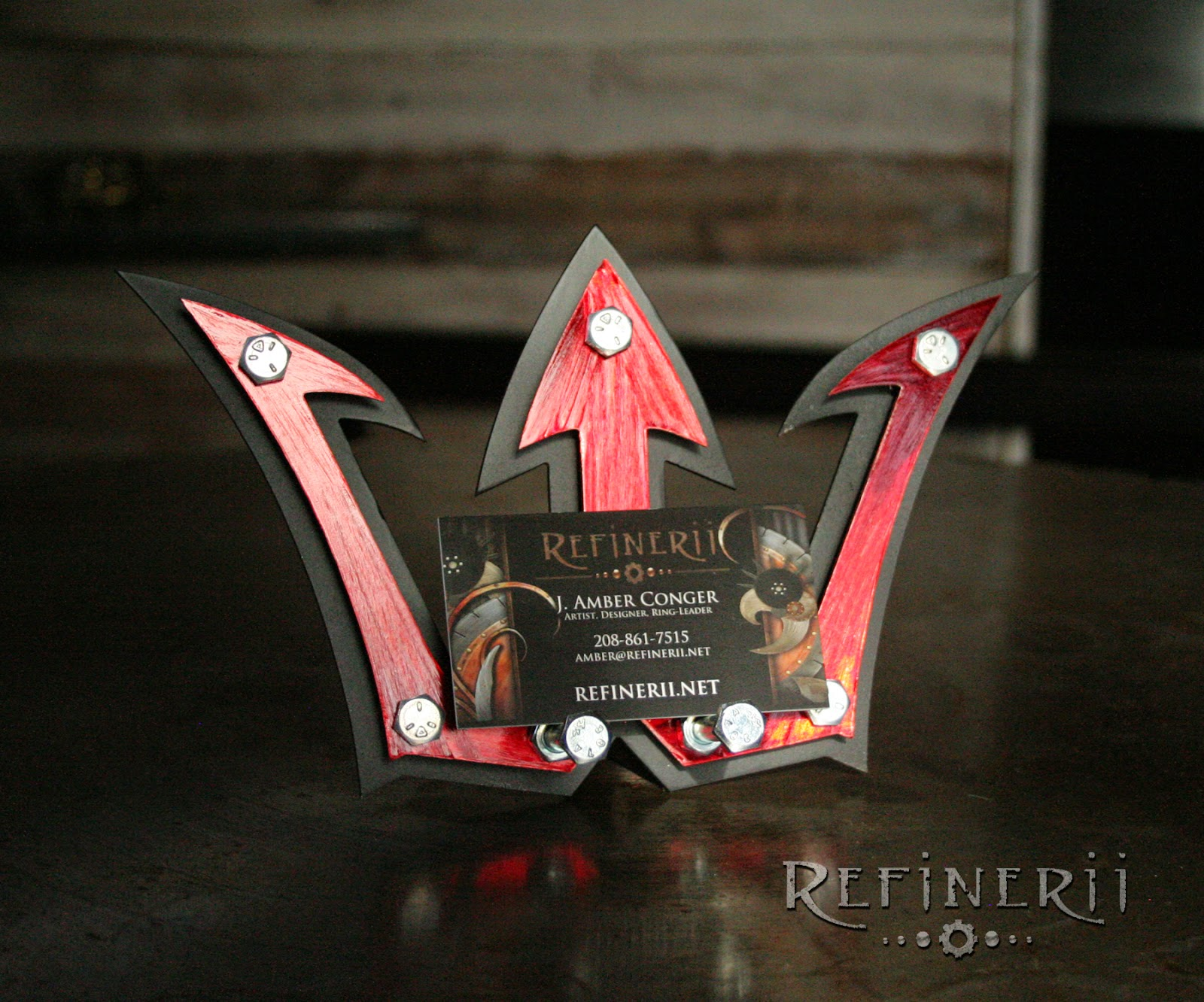 business card holder made from mixed metals custom logo by refinerii.net