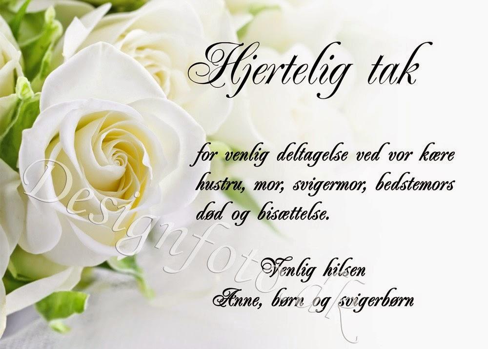 tekst til takkekort begravelse