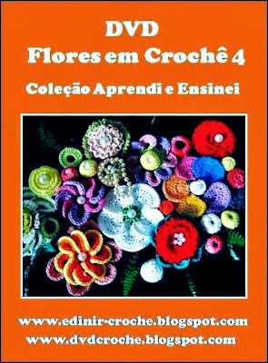 flores em croche 5 volumes dvd video-aulas blog loja frete gratis