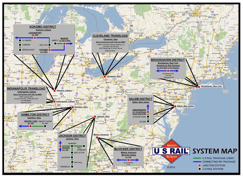 U.S. Rail System Map
