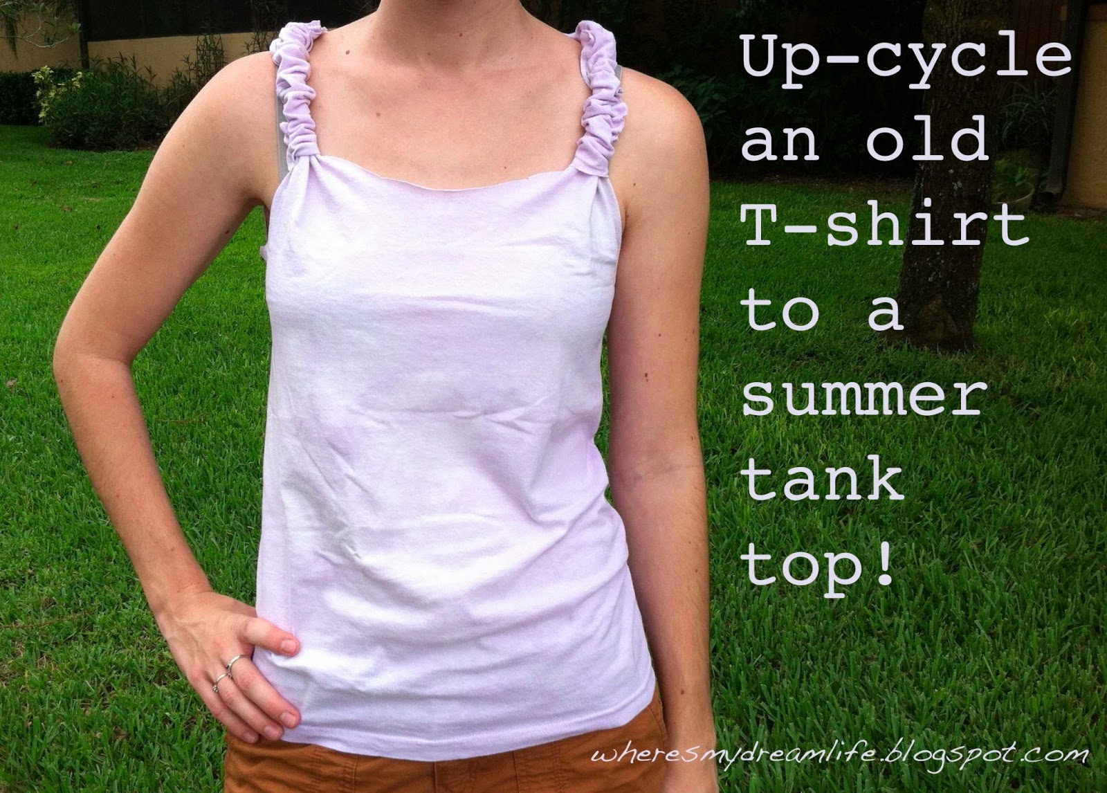 how to cut a t shirt into a tank top