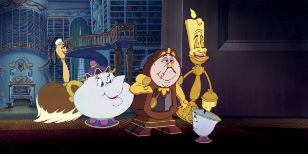 Beast's castle servants Beauty and the Beast 1991 animatedfilmreviews.blogspot.com