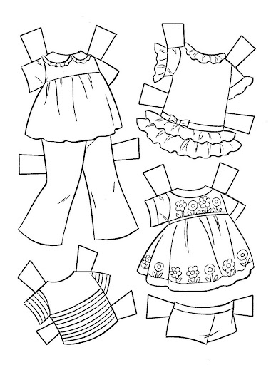 Miss Missy Paper Dolls: Baby Tenderlove coloring book paper doll