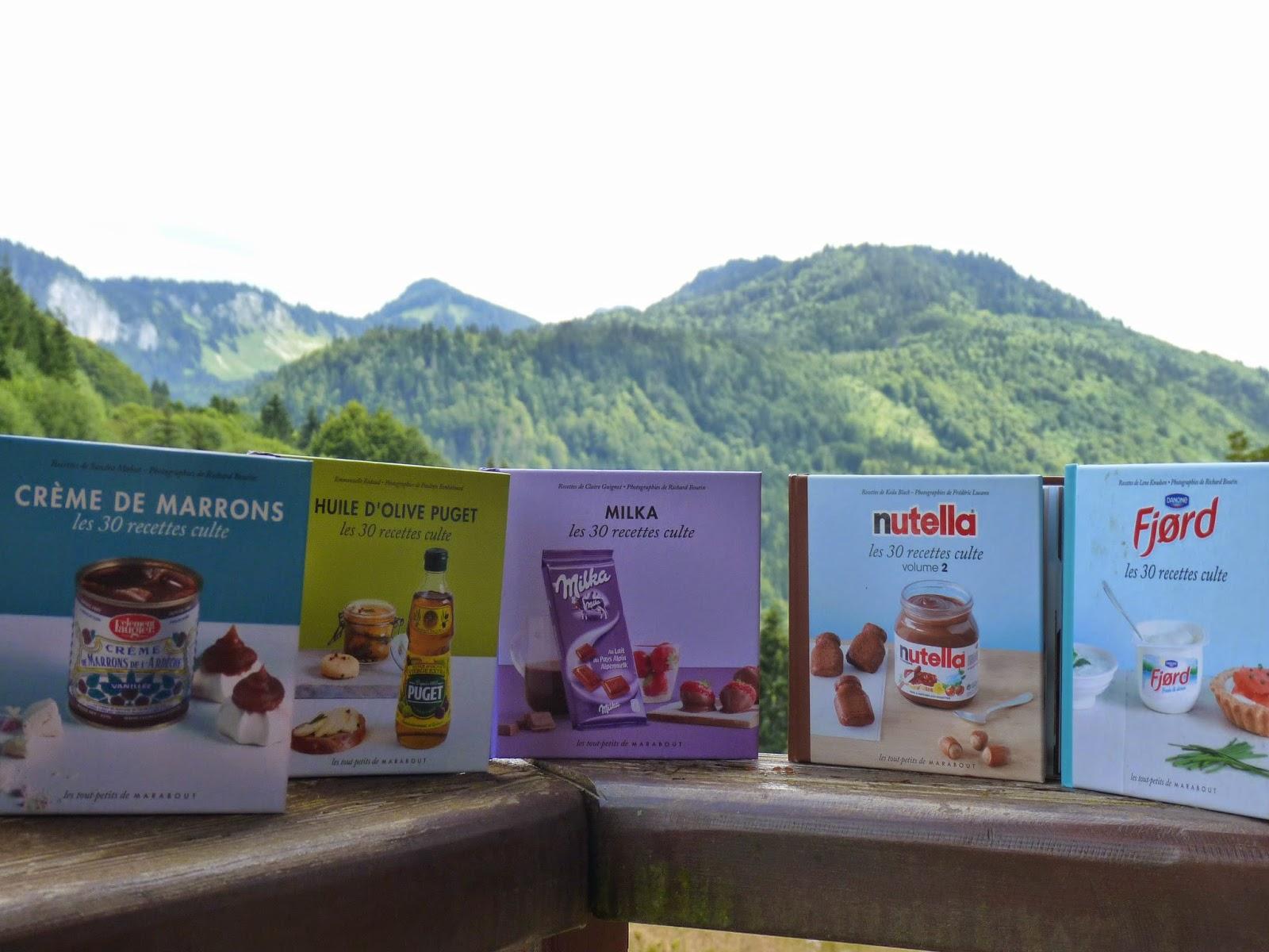 livres de cuisine, 30 recettes cultes, mini, crème de marron, clément faugier, huile d'olive, puget, milka, chocolat, nutella, fjord, yaourt, fromage blanc, pâte à tartiner