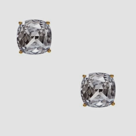 Kate Spade clear Small Square Studs