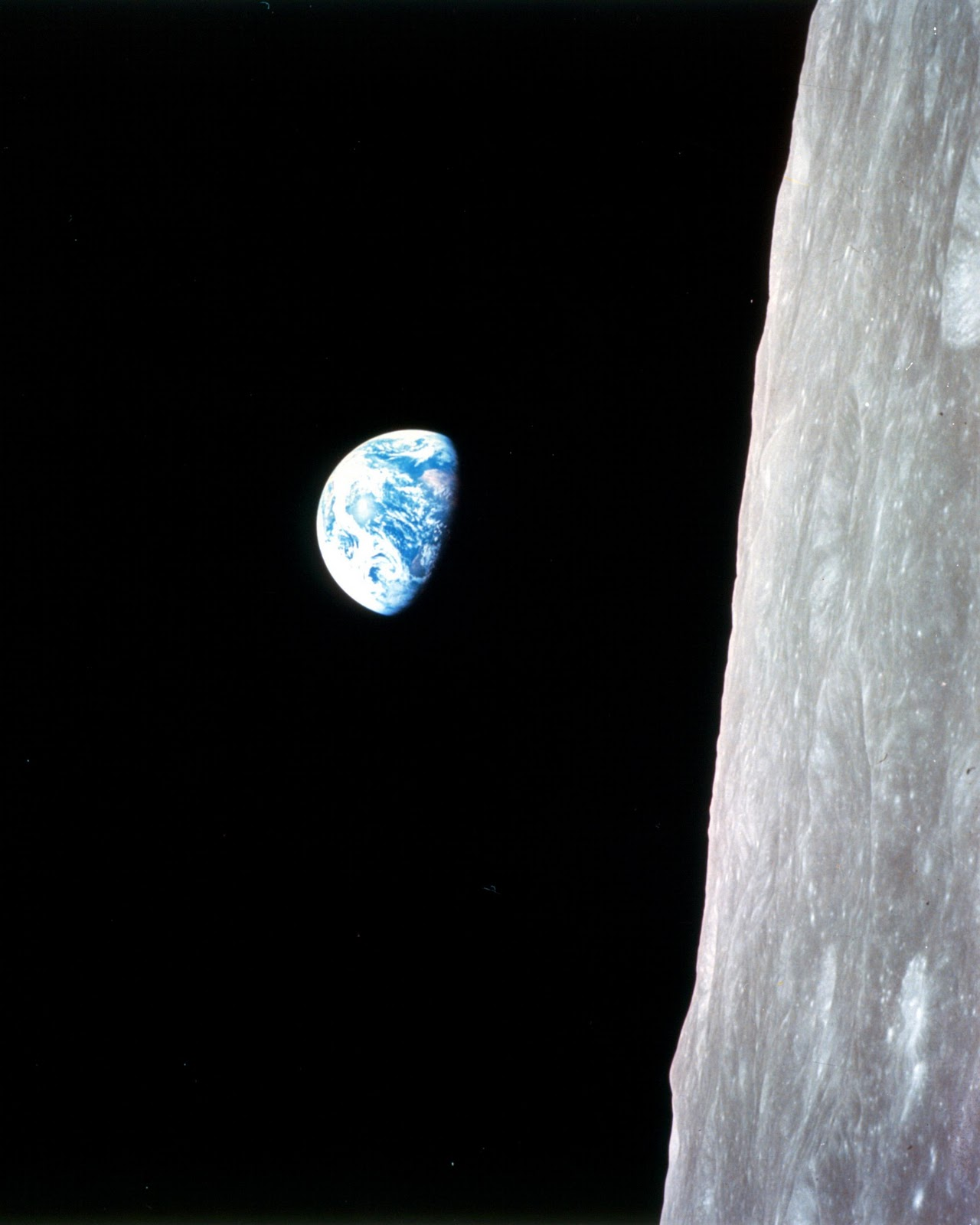 earthrise from moon apollo - photo #3