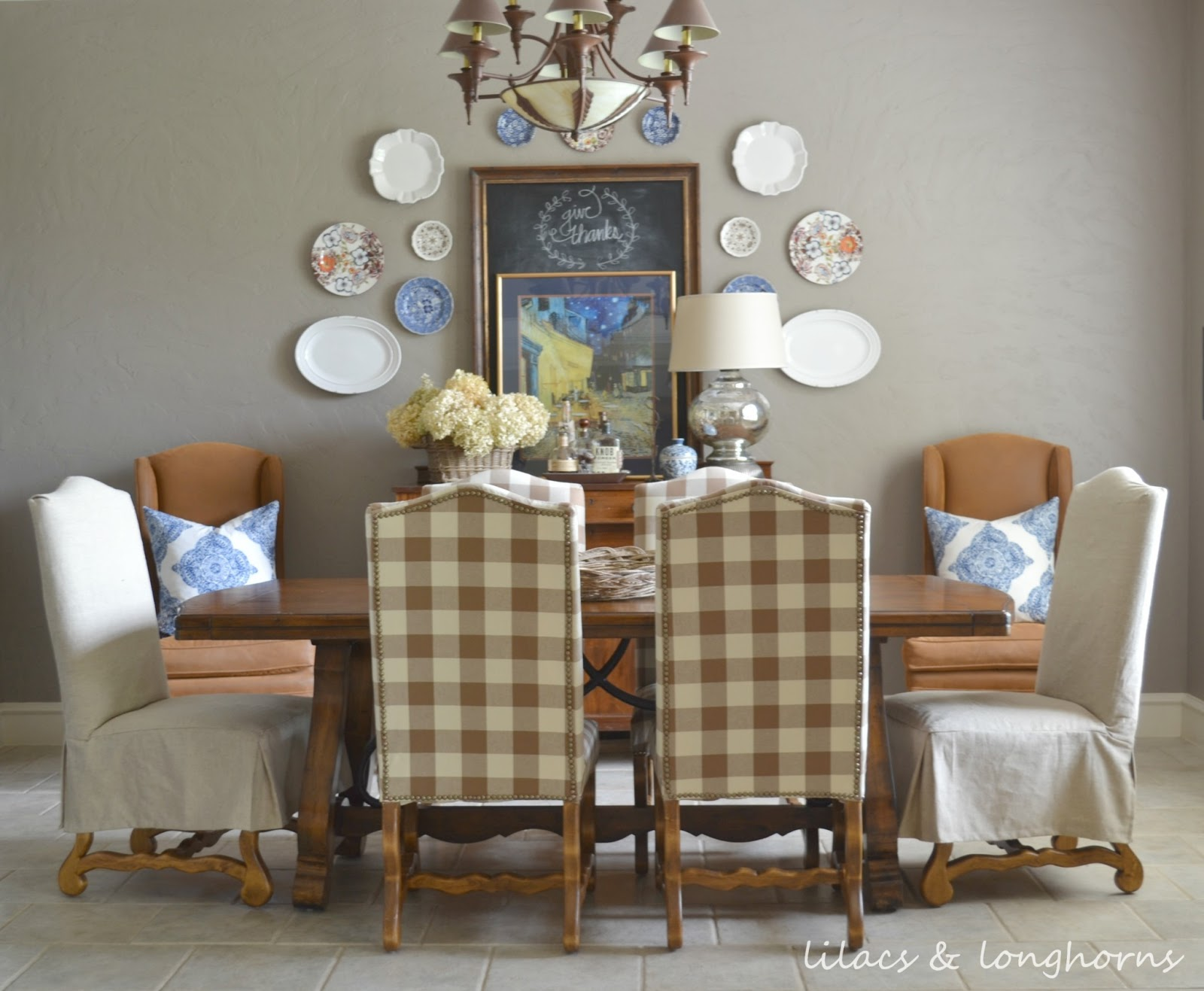 Reupholstered Dining Room Chairs From Julie At Lilacs U0026 Longhorns