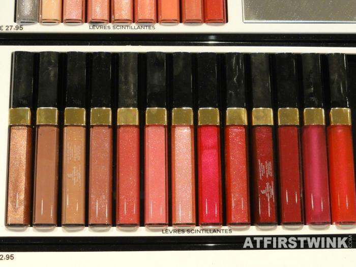 Chanel lip glosses levres scintillantes glossimer