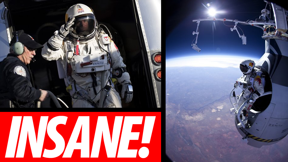 Man jumps from space news article