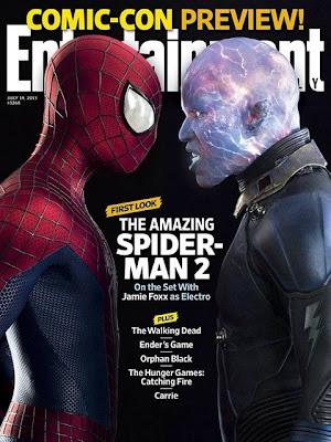 entertainment weekly, the amazing spiderman 2, jamie foxx,andrew garfield