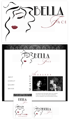 Makeup Artist Logo and Web Design