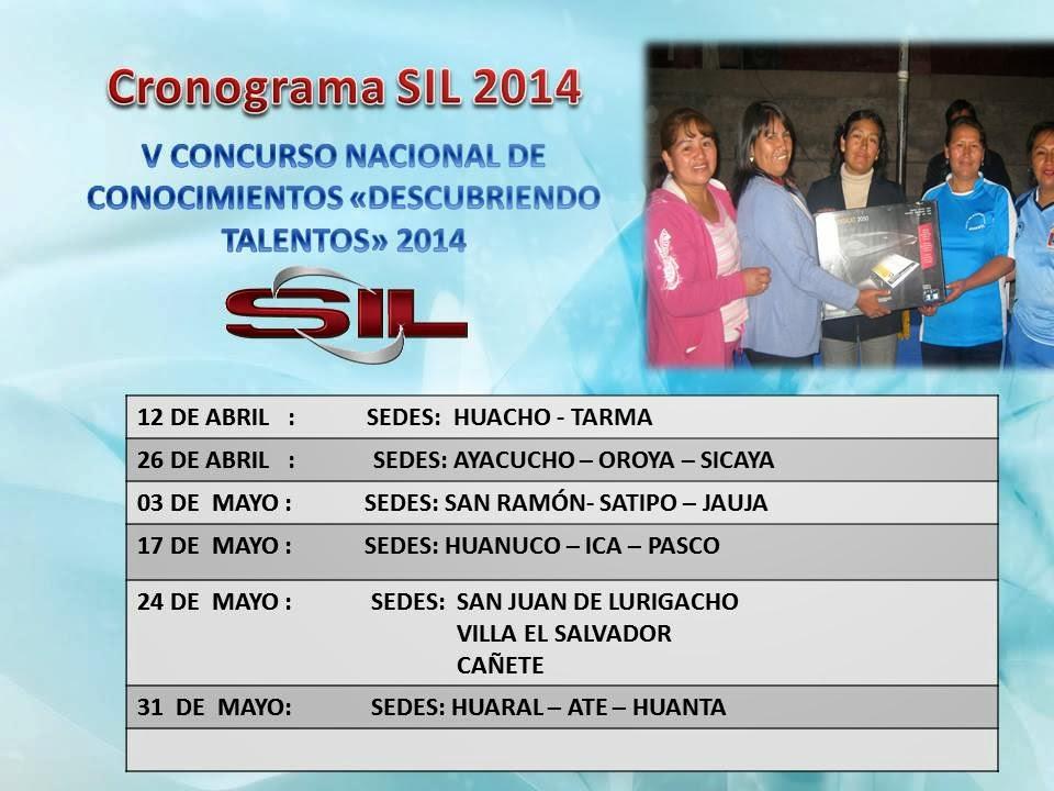 CRONOGRAMA  SIL 2013