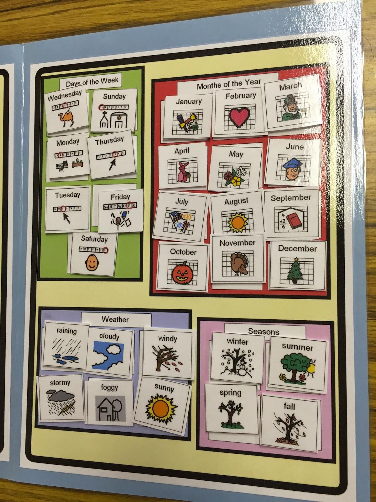 Kindergarten Calendar Folders : The autism adventures of room calendar file folder
