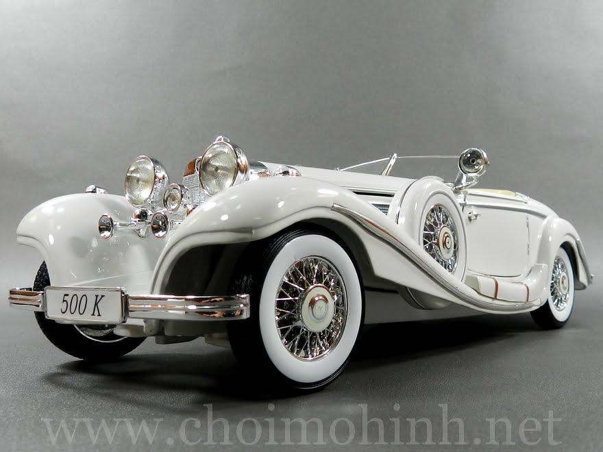 Mercedes-Benz 500 K TYP Specialroadster 1936 1:18 Maisto white